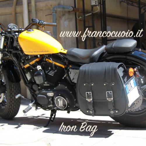 Harley Sportster Franco Cuoio Borse per Harley, Triumph