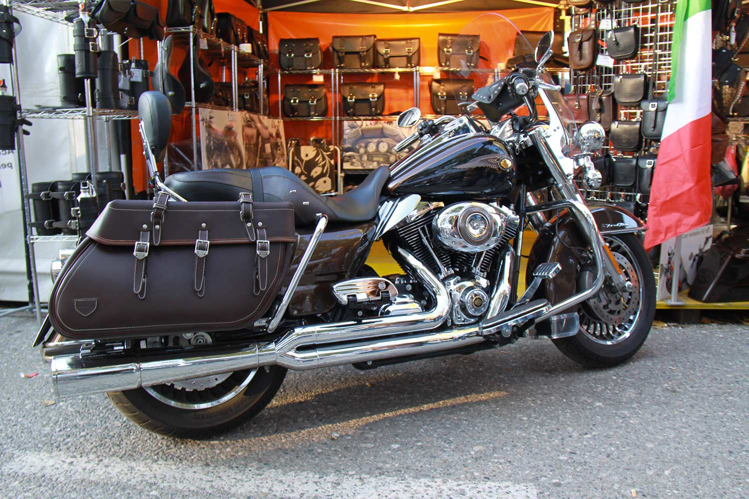 01 Touring Bag Coppia Brown