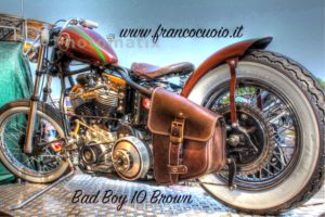 Borsa per Moto – Bad Boy 10 Brown –  Harley Davidson Softail