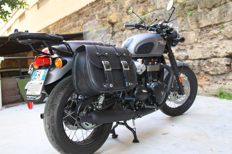 2e600d0c4a Saddlebag - Custom Bag Right - Triumph T100 T120 - Franco Cuoio ...