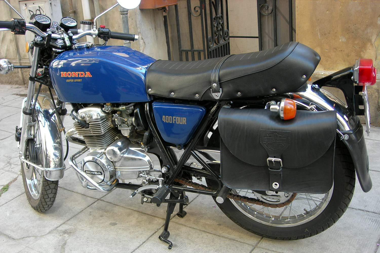 5615d25e7e Honda Saddlebag 400 - Franco Cuoio - Borse per Harley, Triumph...