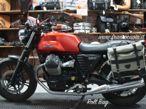 Saddlebag – Roll Bag Canvas – Guzzi V7 3 (Quick Release)