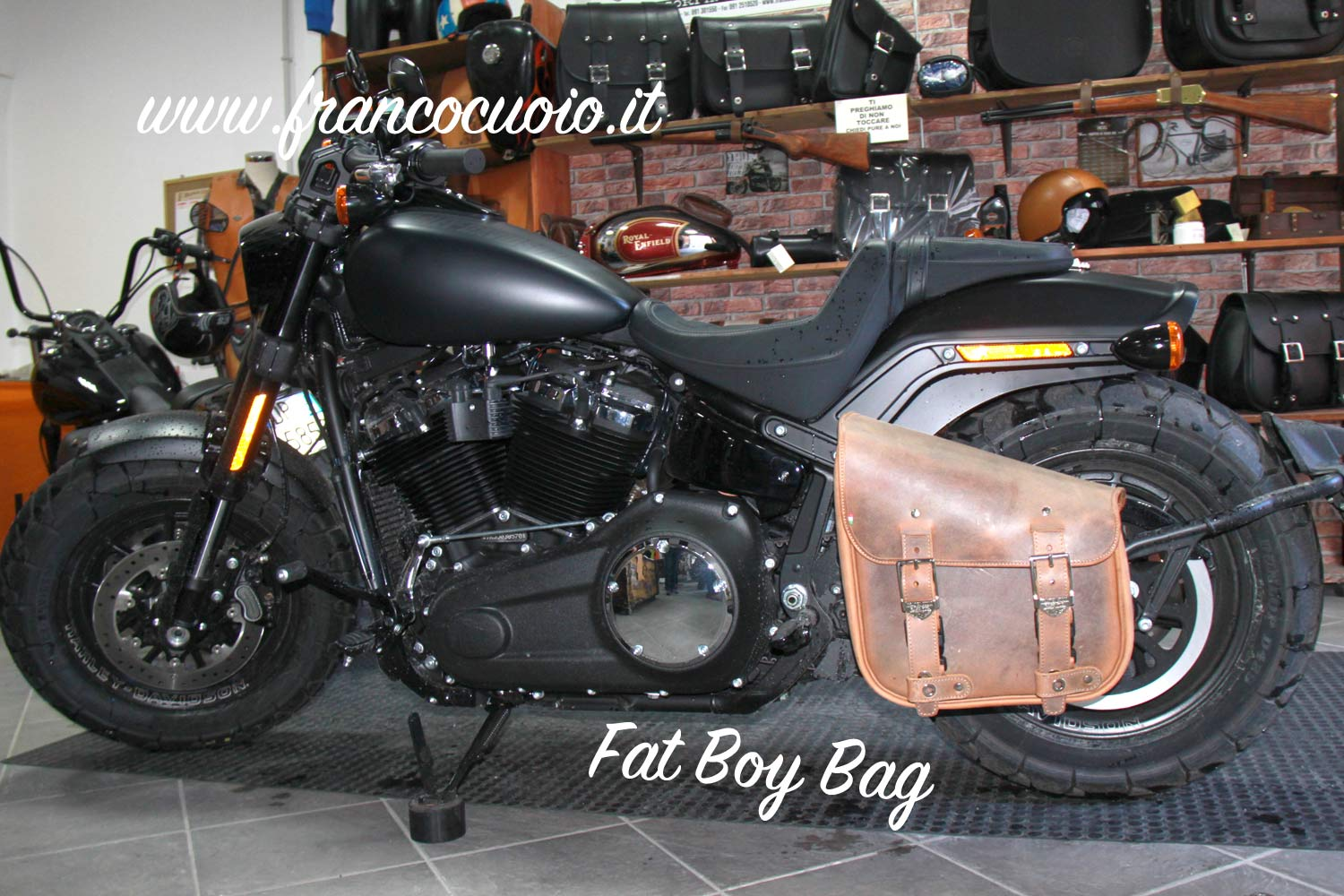 Borsa per Moto – Fat Bag (Old Brown) – HD Fat Bob 2018