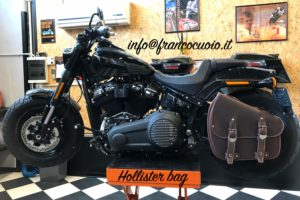 Borsa per Moto – Hollister Fat Bag Brown – Harley Davidson Softail