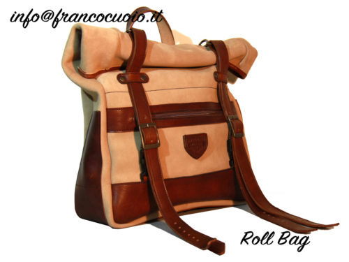 "Saddlebag ""Roll Bag""  Leather Line"