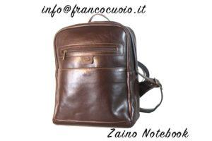 "Zaino in pelle ""Notebook""  BlackBrown"