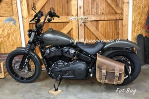 Borsa per moto – Fat Bag (Old Brown) -HD Street Bob 2018