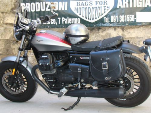 Guzzi V9 Bobber – Couple Bisaccia + support