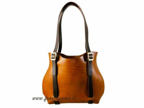 o-Bag Leather – Cognack/Black Brown