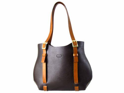 o-Bag Leather – Black Brown / Cognack