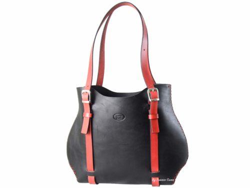 o-Bag Leather – Black-Red